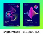 electronic music party posters. ... | Shutterstock .eps vector #1188003466