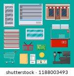 supermarket items set. fridge ... | Shutterstock .eps vector #1188003493