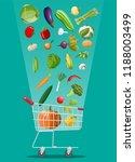 shopping cart full of... | Shutterstock .eps vector #1188003499