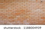 faded brown brick wall with... | Shutterstock . vector #1188004939