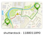 city map navigation route ... | Shutterstock .eps vector #1188011890