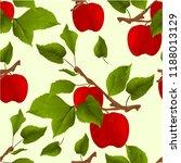 seamless texture branch apple... | Shutterstock .eps vector #1188013129