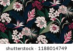 seamless floral pattern in... | Shutterstock .eps vector #1188014749