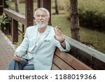 deep in thoughts. pleased...   Shutterstock . vector #1188019366