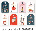 set of christmas gift tags for... | Shutterstock .eps vector #1188020239