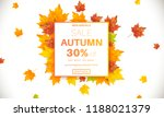 autumn sale banner for online... | Shutterstock .eps vector #1188021379