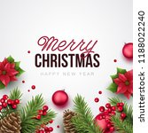 merry christmas and happy new... | Shutterstock .eps vector #1188022240