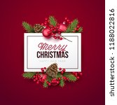 merry christmas background.... | Shutterstock .eps vector #1188022816