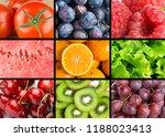 background of fresh mixed... | Shutterstock . vector #1188023413