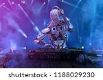 robot disc jockey at the dj... | Shutterstock . vector #1188029230