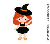 adorable little witch.... | Shutterstock .eps vector #1188030436