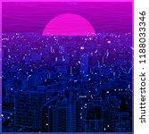 ultraviolet vaporwave synthwave ... | Shutterstock .eps vector #1188033346