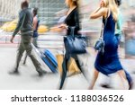 people shopping in the city in... | Shutterstock . vector #1188036526