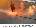 preheating the edges of the... | Shutterstock . vector #1188037966