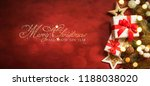 christmas gift. christmas and... | Shutterstock . vector #1188038020