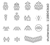 people icons line work group... | Shutterstock .eps vector #1188043660