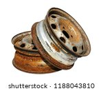 Old Car Wheel  Rusty Car Alloy...