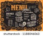 brunch menu template for... | Shutterstock .eps vector #1188046063