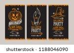 set of halloween invitation... | Shutterstock .eps vector #1188046090