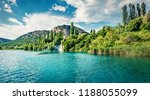 gorgeous summer view of krka... | Shutterstock . vector #1188055099