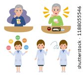 a female nutritionist with old... | Shutterstock .eps vector #1188055546