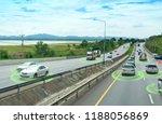 smart car  self driving mode... | Shutterstock . vector #1188056869