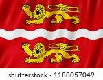 flag of seine maritime  france. ... | Shutterstock . vector #1188057049
