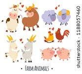 cartoon farm parents. brightly... | Shutterstock .eps vector #1188057460