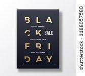 black friday minimalist...   Shutterstock .eps vector #1188057580