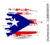 grunge brush stroke with puerto ... | Shutterstock .eps vector #1188058459