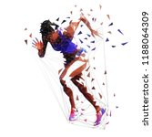 running woman  low polygonal... | Shutterstock .eps vector #1188064309