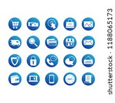 e commerce icon circle set