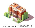 vector isometric old university ... | Shutterstock .eps vector #1188067519
