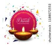 happy diwali celebration... | Shutterstock .eps vector #1188072553