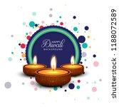 diwali festival card background ...   Shutterstock .eps vector #1188072589