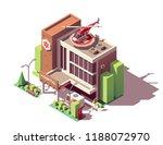 vector isometric hospital or... | Shutterstock .eps vector #1188072970