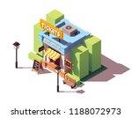 vector isometric old ticket... | Shutterstock .eps vector #1188072973