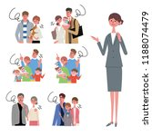 an image set of family life and ... | Shutterstock .eps vector #1188074479