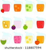 vector of beverage   jugs... | Shutterstock .eps vector #118807594