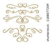 set of elegant flourishes on a...   Shutterstock .eps vector #1188077209