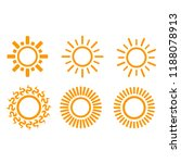 sun shine icons  line flat...   Shutterstock .eps vector #1188078913