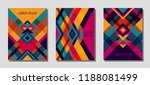 set of cover page layouts ... | Shutterstock .eps vector #1188081499