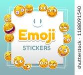 emoji stickers background.... | Shutterstock .eps vector #1188091540
