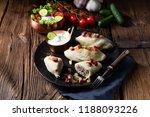 rustic cepelinai  a specialty... | Shutterstock . vector #1188093226