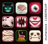 Scary App Icons On Black...