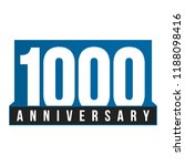 1000th anniversary vector icon. ... | Shutterstock .eps vector #1188098416