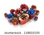3d illustration of many...   Shutterstock . vector #118810150