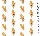 ginger  vector seamless pattern ... | Shutterstock .eps vector #1188106090