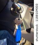 a bunch of keys dangle from a... | Shutterstock . vector #1188109003