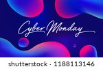 cyber monday discount sale... | Shutterstock .eps vector #1188113146